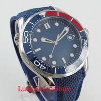 BLIGER High Quality Mechanical Self Winding Men's Watch Ceremic Bezel Rubber Band Luminous Marks