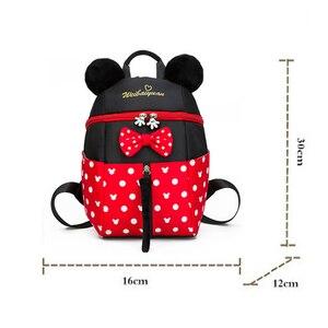 Image 5 - 2019 yeni Mickey Mouse Minnie şekli kız erkek sırt çantası çocuk çantası okul karikatür çocuk sevimli anaokulu kreş kitap çantası hediye