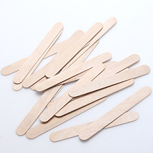 50PCS Wooden Spatulas Body Hair Removal Sticks Wax Waxing Disposable Sticks Hair