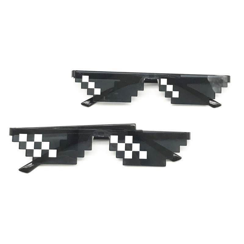 New Arrival MineCrafted Sunglasses Kids Cos Play Action Game Toys Minecrafter Square Glasses With EVA Case Gifts For Children