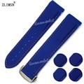 22mm x 20mm Hot Venda NOVA Azul Mergulhador assistir cinta de banda De Borracha de Silicone Para O Planeta-Oceano 45mm