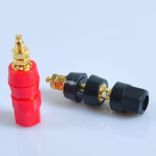 цена на 6PCS Binding Post Speaker Cable Audio Amplifier Terminal Banana Plug Jack Gold