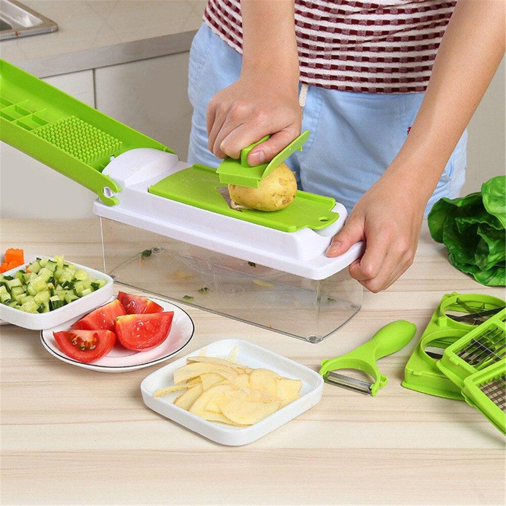12 in 1 Multi-functional Vegetable Fruit Slicers Potato Tomato Carrot Grater Orange Cutter Home Kitchen Shredders Chopper Tools