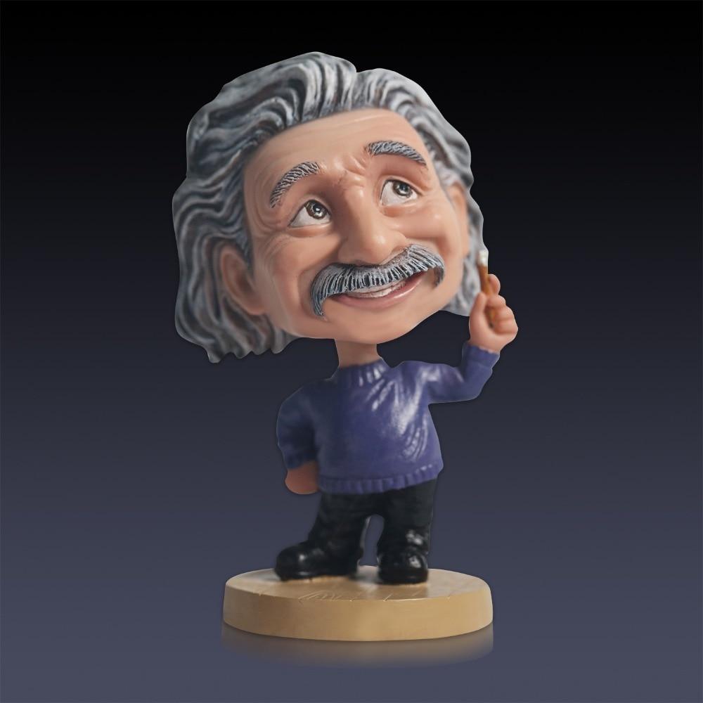 Nuovo 5 Cute Creativo Einstein Scuotendo La Testa In Resina Scultura Auto Desk Decor Ornamento Statua Per Il Compleanno Regalo di RingraziamentoNuovo 5 Cute Creativo Einstein Scuotendo La Testa In Resina Scultura Auto Desk Decor Ornamento Statua Per Il Compleanno Regalo di Ringraziamento