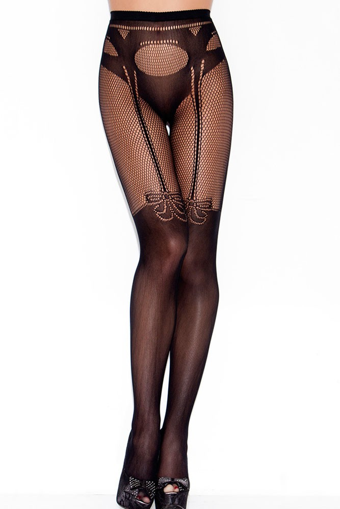 Garter-and-Panty-Silhouette-Patterned-Pantyhose-LC79825-1