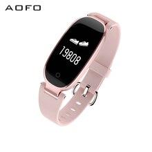 Women Smart Fitness Watch, Heart Rate Monitor Bracelet IP67 Waterproof with Tracker Pedometer