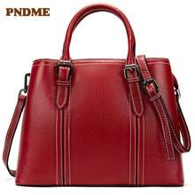 Casual leather womens single shoulder bag pure color retro handbag small square