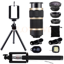 Mobile lenses Kit Selfie lamp Tripod 8X Telescopic Telephoto