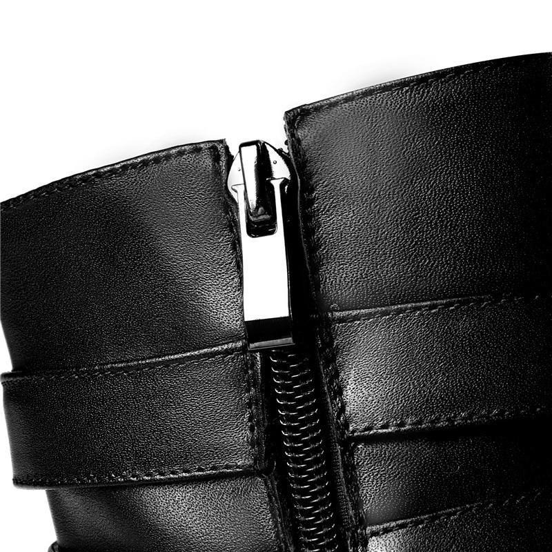 Automne Talons Boucle Carrés Zipper With 44 Plus Fur Fur 32 black En Cuir Fringe Taille Cheville Hiver Black La Arrivent Femmes Véritable Bottes Nouveau Asumer Not Ez0wYY