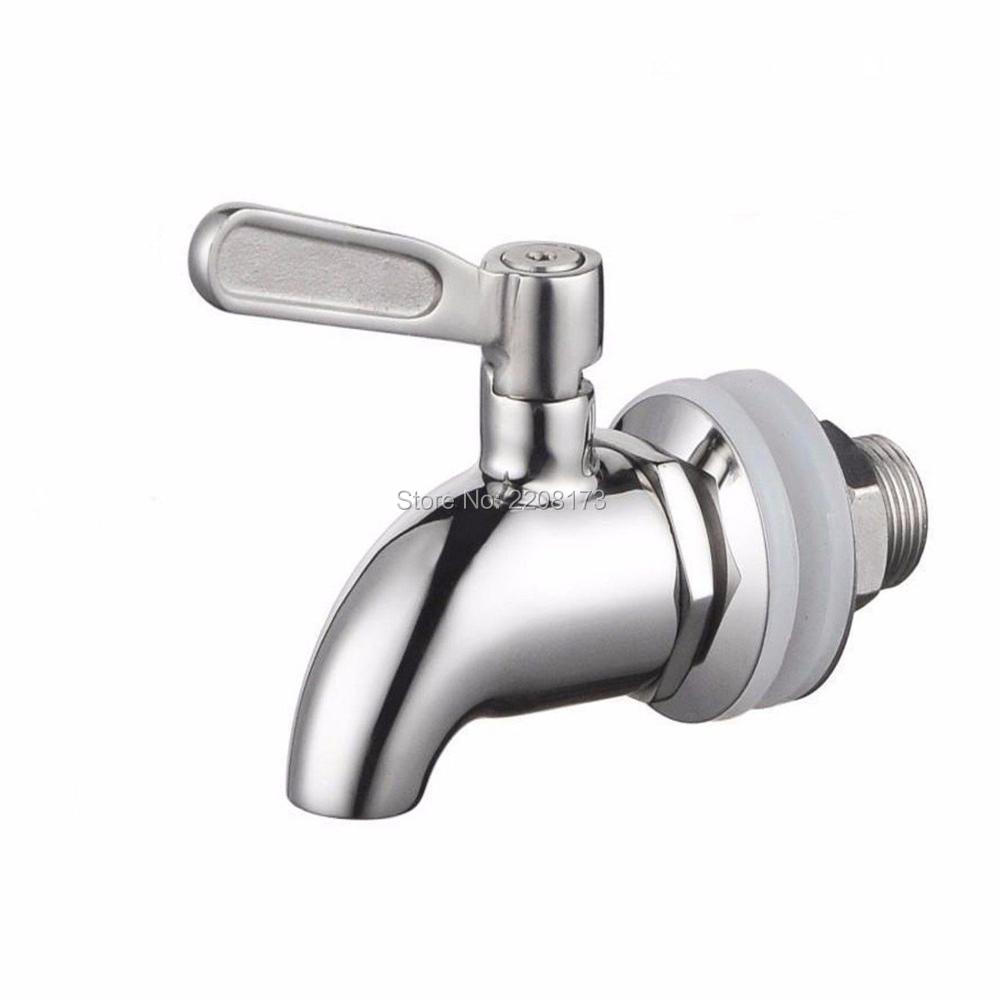 Smesiteli new arrival sus304 stainless steel brushed nickel faucet tap for home brew barrel fermenter wine beer fridge kegs in kitchen faucet accessories