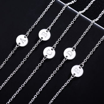 26 Fashion Letter women men chain bracelet Silver color Charm Bracelet wedding Personality Jewelry Pulseras Mujer JSHLH029 1