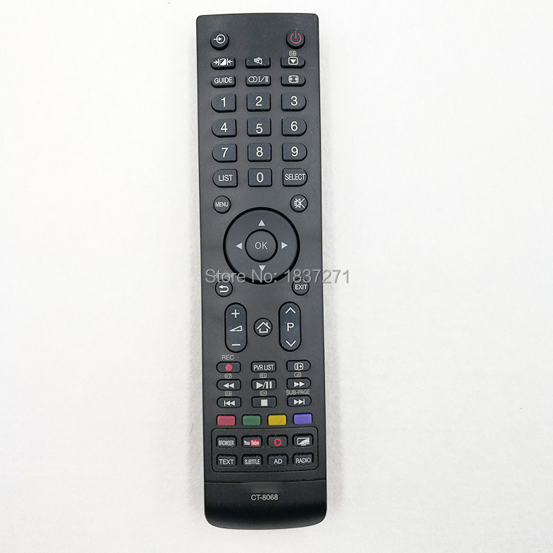 used original remote control model CT-8068 for toshiba lcd tv