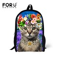 2017 Kawaii School Backpack for Children 3D Pet Cat Teenager Girls Fashion Animal Bagpack Kids Children Casual Backpacks Mochila