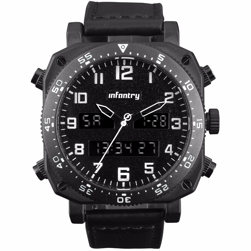 Big Bomber Dial Analog Quartz Digital Sports Army Military Watch