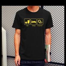 2016 Summer T Shirts Eat Sleep Engineer Tshirts  Engineering Career Occupation Funny Technology Cotton Short Sleeve T-shirts