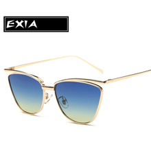 Gradient Blue Sunglasses for Women Cat Eye New Spectacle with Glasses Case EXIA OPTICAL KD-0741 Series