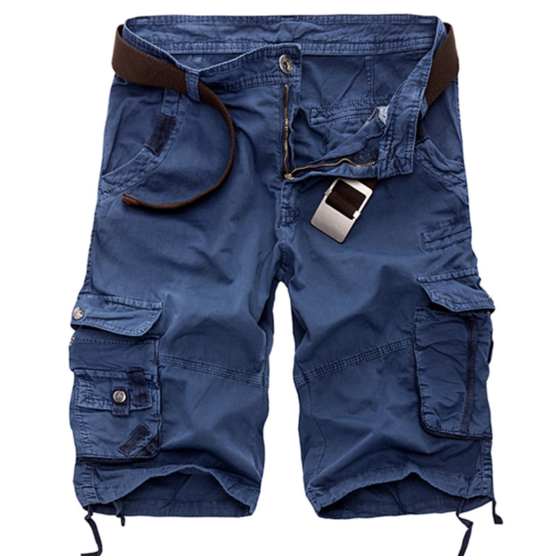 Trousers Overalls Short Multi-Pocket Cargo Men's Plus-Size Camouflage Summer Cotton Casual