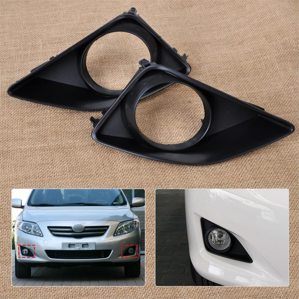 Fit For 17 18 Toyota Corolla LE Fog Light Cover Side Bezels Set 2pcs LH RH