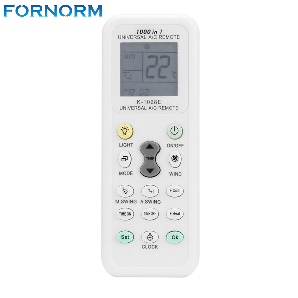 Fornorm Universal Wireless K-1028E 1000 in 1 AC Digital LCD Remote Control for Air Conditioner