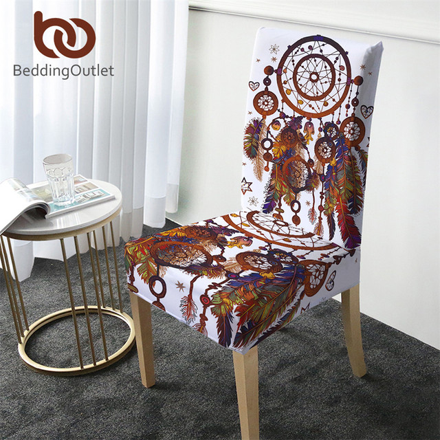 BeddingOutlet Watercolor Printing Chair Cover Bohemia Removable Big Elastic Slipcover Dreamcatcher Stretch Seat Case for Banquet