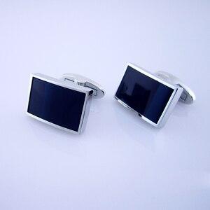 Image 4 - KFLK bijoux chemise mode boutons de manchette pour hommes marque bouton de manchette bouton noir haute qualité luxe mariage marié invités