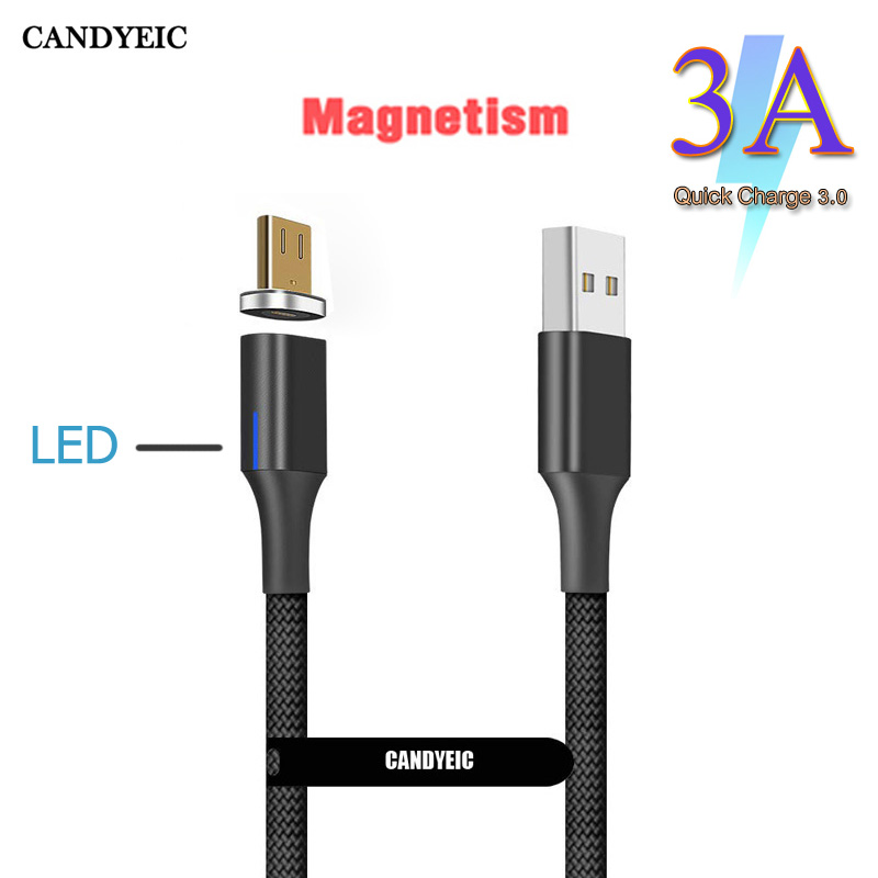 CANDYEIC Micro USB 3A Charging Cable For Huawei Mate 30Pro MOTO G7 Z2 Honor V20 Redmi Note5pro LG G4 5 Andriod Phone Cord USB C
