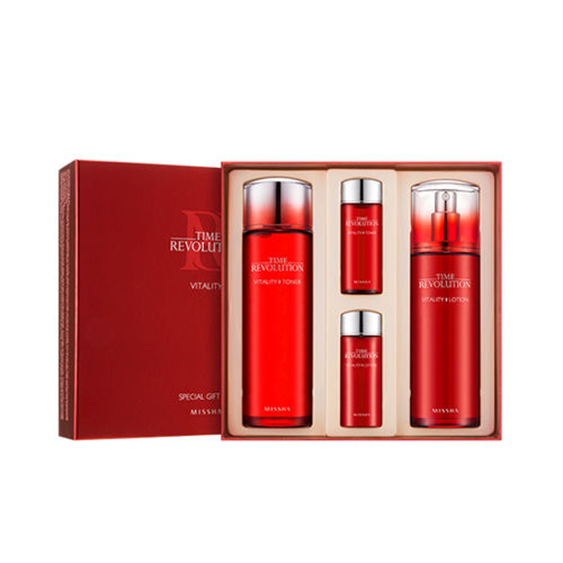 MISSHA Vitality Special Gift Set Anti aging Face Serum Anti Wrinkle Essence Toner Moisturizing Facial Lotion Korea Cosmetics