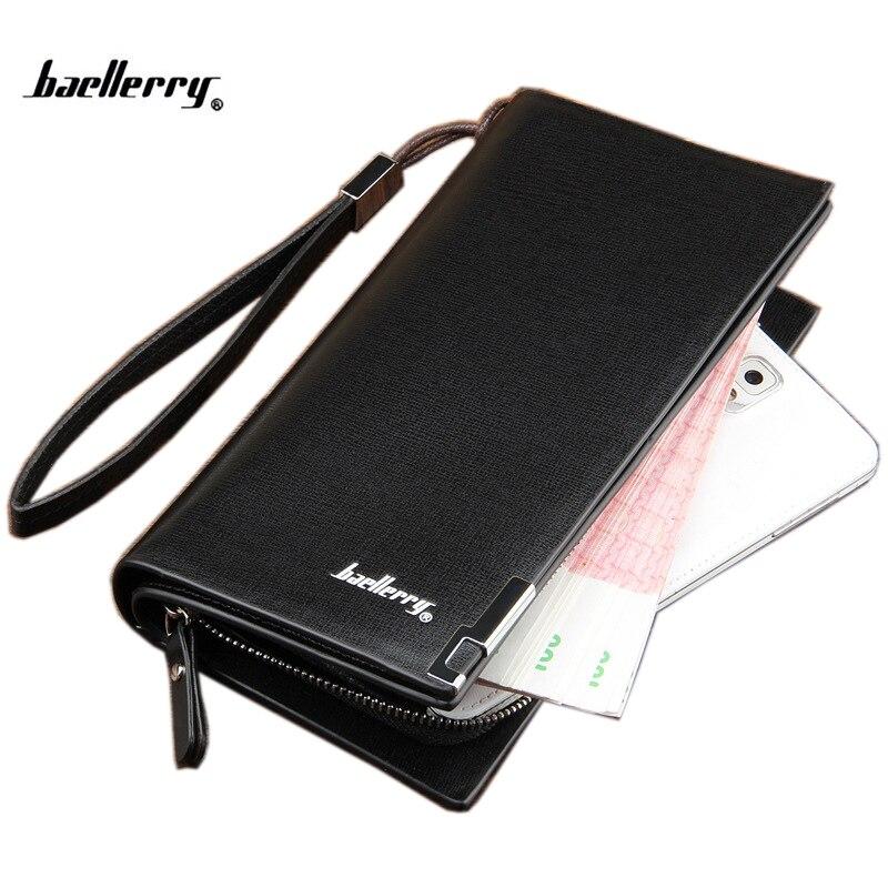 2018 Nytt västerländsk märkes mäns plånbok dragkedja lång telefonväska modekvalitet garantera handväska myntväska koppling plånbok gratis frakt