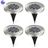 4PCS/pack 8 LEDs Solars walkway Powered IP65 Waterproof Ground Lamps for Outdoor Fence Garden Lawn lamp garden led solar light