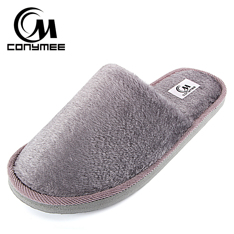 Winter Slippers Men Indoor Shoes Casual Sneakers For Home Cotton Slipper Terlik Soft Plush Warm Pantuflas Man Big Size Shoe