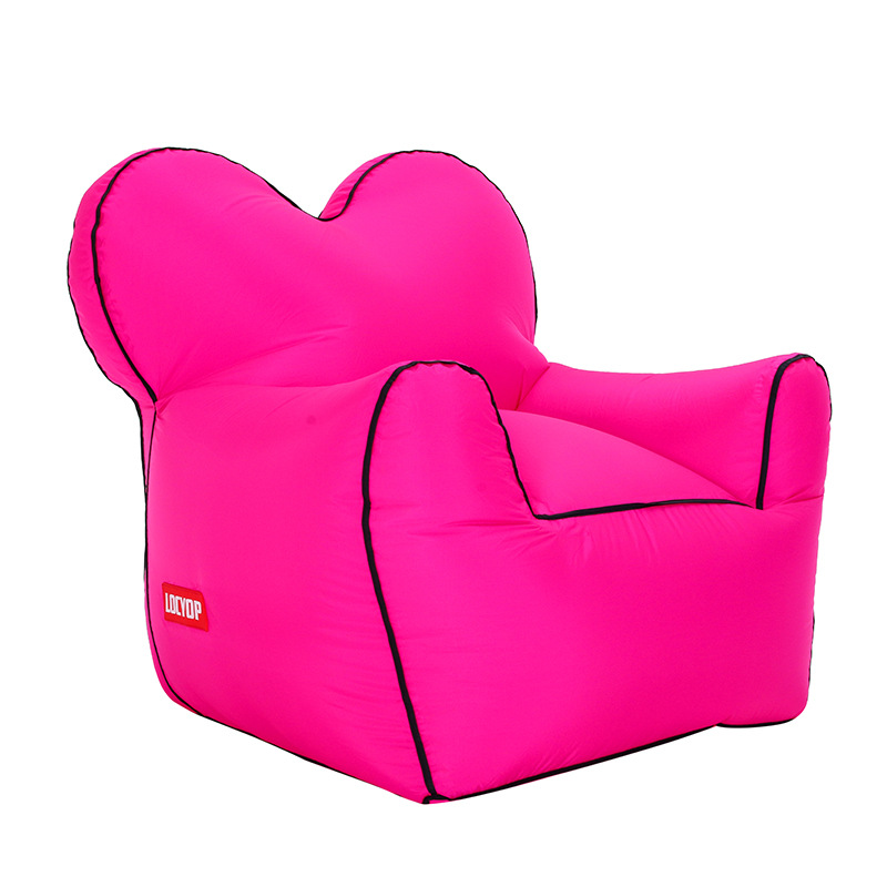 Grote maat air sofa outdoor zitzakken draagbare enkele vocht water proof vloermat opblaasbare lazy slaapbank bean bag