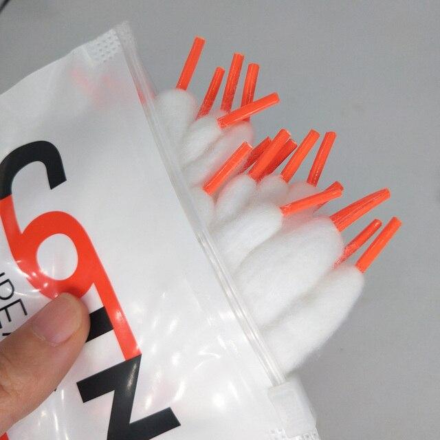 Lovekeke מוכנים מראש חוט סליל כותנה Vape כותנה מוכנים מראש אורגני כותנה לecigarette להרכבה עצמית RDA RBA RDTA מרסס vs בייקון כותנה