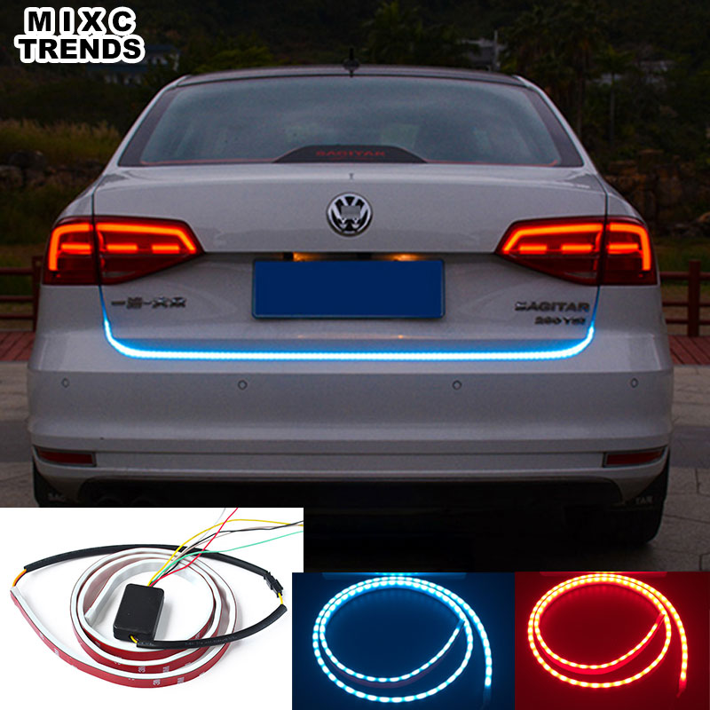 MIXCTRENDS Red Blue LED Trunk light Strip Rear tail light car ...