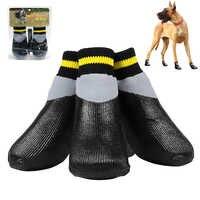 4 unids/set al aire libre impermeable antideslizante antimanchas perro gato calcetines botines zapatos con suela de goma Pet Paw Protector para pequeño perro grande