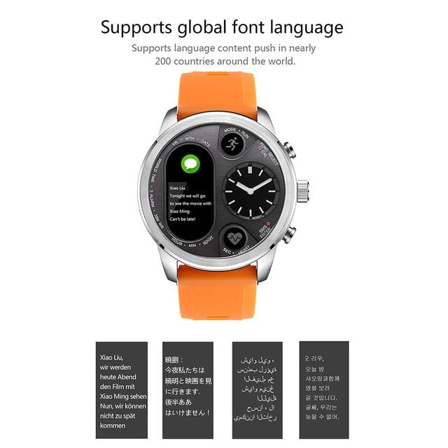 Blood Pressure & Heart Rate Monitor Pedometer Waterproof Smart Watch 2