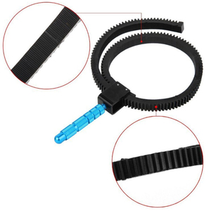 Image 3 - For SLR DSLR Camera Accessories Adjustable Rubber Follow  Gear Ring Belt with Aluminum Alloy Grip for DSLR Camcorder Camera