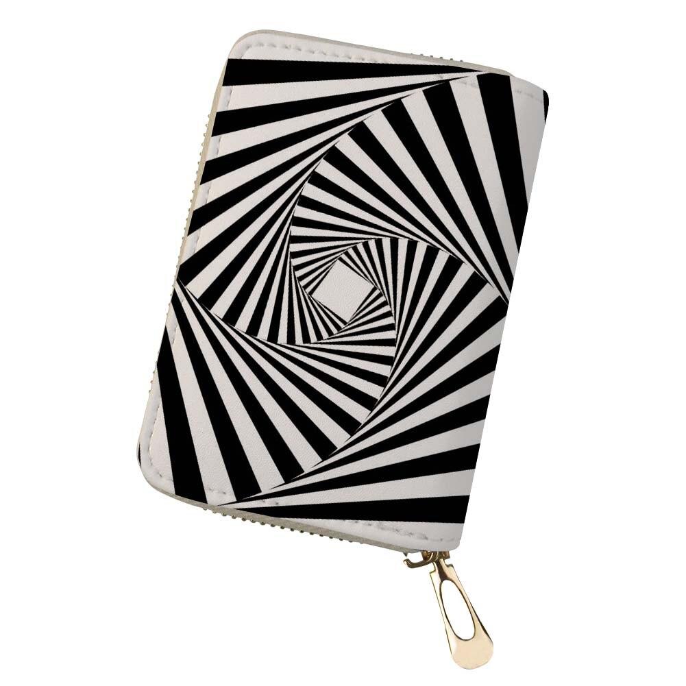 Пейсли черный, белый цвет Дизайн Для мужчин держатель для карт на молнии Для женщин кожа Pu монета мешки 20 слотов Иллюзия кредитные карточки ... ...