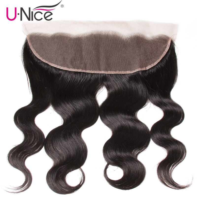 Unice Hair Body Wave Malaysian Hair Weave Lace Frontal 1 PCS Pre Plucked 13 4 100