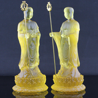 Ancient glass to glass Store Bodhisattva Praying Buddha statue has ever temple supplies wholesale custom furnishings