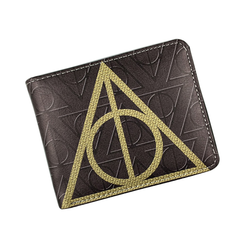 New Arrival Harry Potter Wallets PU Leather Purse Men Women Dollar Price Card Holder Bags Birthday Gift Short Wallet carteira 2018 new women wallets oil wax genuine leather high quality long design day clutch cowhide wallet fashion female card coin purse page 5