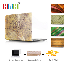 Wood Pattern Laptop Body Shell Protective Hard Case for 2016 New Macbook Pro 13