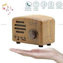 Portable Bluetooth Stereo Speaker Enhanced Bass Retro Vintage Speaker with TF Card Slot For Travel Wireless bt Blutooth Speaker(China)