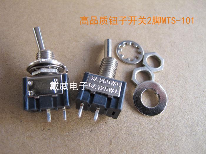 91c41c0867d3 Original nuevo 100% suministro de pequeño interruptor basculante pin 2  ON-off negro MTS-101
