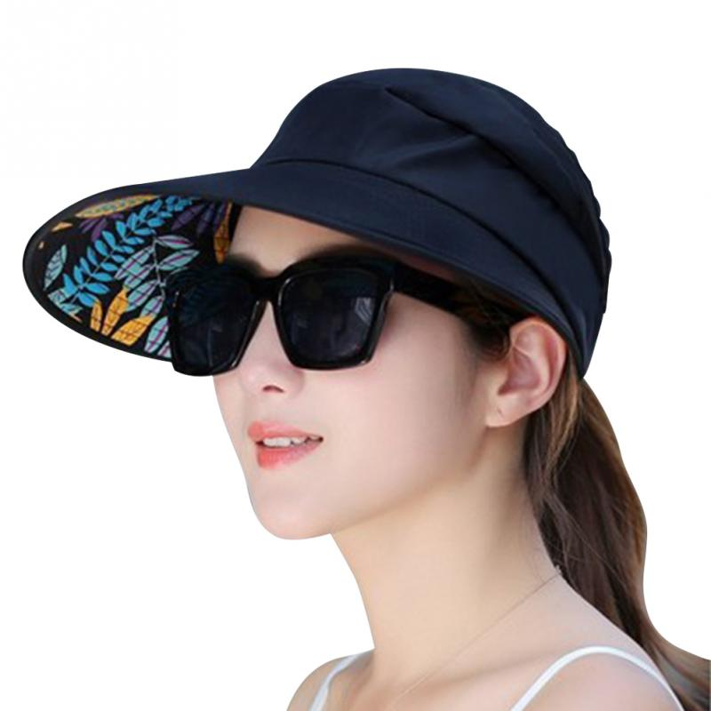 d40735a03 New Summer Folding Sun Hat For Women Wide Brim UV Protection Sun Hat Beach  Packable Visor Hat
