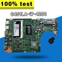 S451LA Motherboard I7 4200 4G RAM For ASUS S451L S451LA S451LN S451LD Laptop motherboard S451LA Mainboard S451LA Motherboard