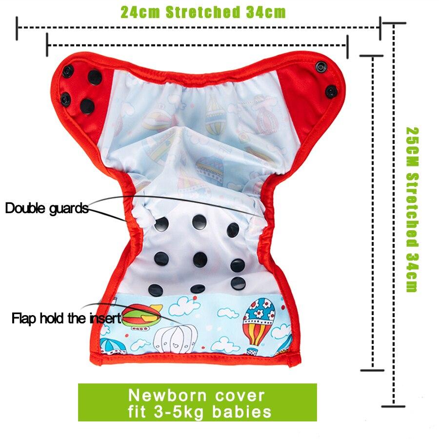 Image 2 - 5 шт./лот подгузник Happy Flute для новорожденных NB тканевый подгузник маленькие подгузники многоразовые дышащие водонепроницаемые детские подгузники 3 5 кг-in Детские подгузники from Мать и ребенок