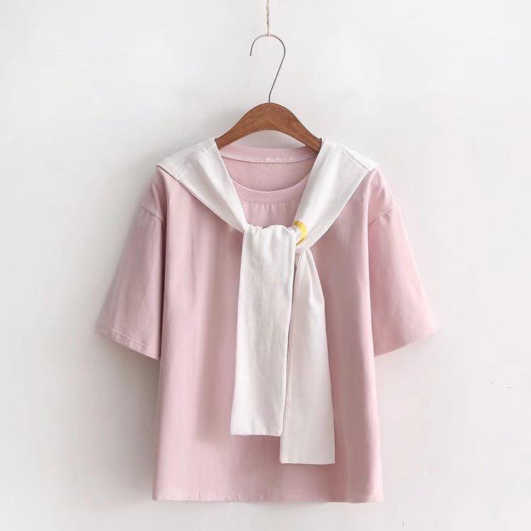 Cuello redondo nuevo estilo mujeres camisetas Casual verano manga corta Mujer camiseta mujer ropa