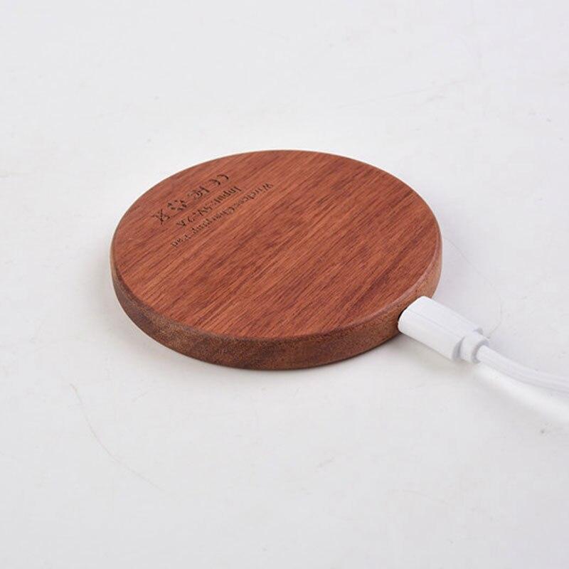 Chargeur sans fil en bois