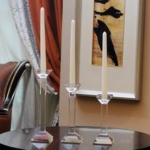 High Quality Crystal Candlestick Luxury K9 Wedding Deco Candle Holder Handmade Home Decorative