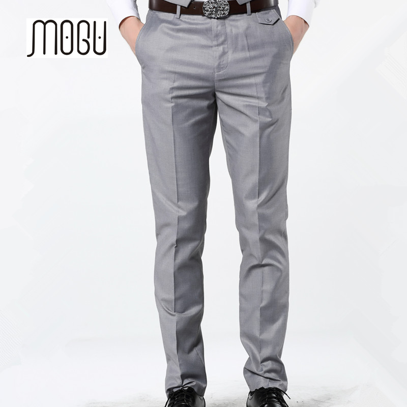 MOGU 2017 New Casual Dress Pants For Men 7 Colors Slim Men Dress Pants Red Mens Elastic  ...
